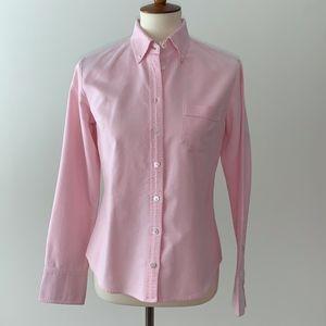 J. Crew Pink Button-down Women's Shirt Small
